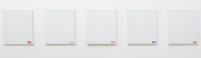 """La série des """"Monochromes lessive"""" de Présence Panchounette"""
