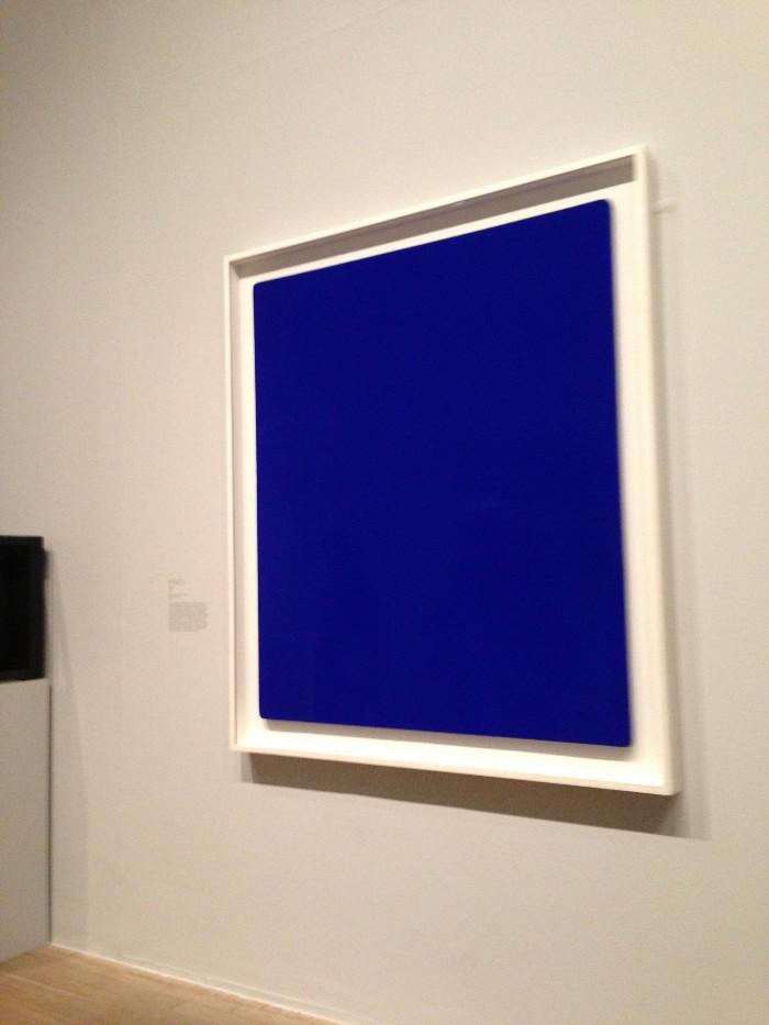L'IKB 79 d'Yves Klein, à la Tate Modern