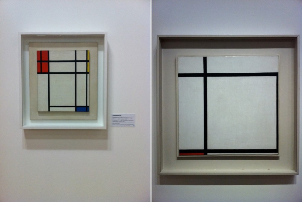 Deux compositions de Mondrian (Photo Surfinestate)