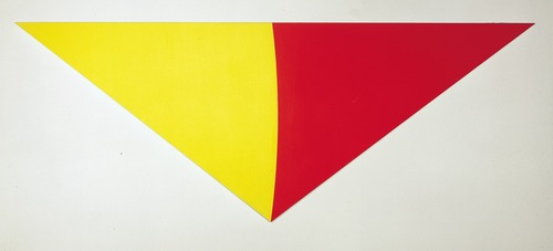 """Yellow-red curve"", un autre tableau de Ellsworth Kelly"