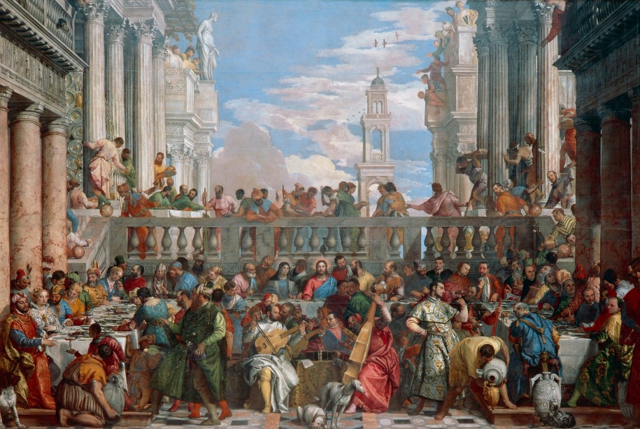 The Wedding at Cana, 1563, by Paolo Caliari known as Veronese (1528–1588). Paris, Musée Du Louvre